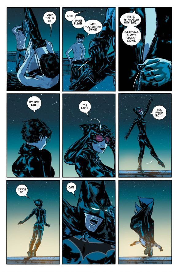 In King's run, I only cared about the #Catwoman-related stuff.I just wish he would've held off on the marriage proposal/wedding tease, and further explored the benefits & challenges of the #BatCat relationship throughout. Instead of just if Batman can or should, be happy. pic.twitter.com/GkmuWnBsVW