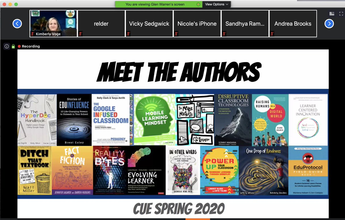 #SpringCUE Meet the Authors is on! Jump into the session to meet your favorite! #WeAreCUE