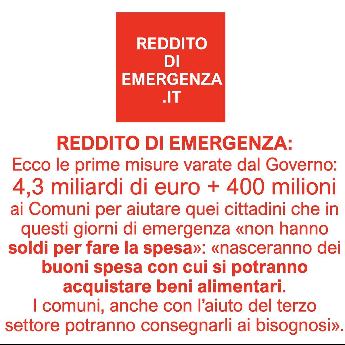 #RedditoDiEmergenza