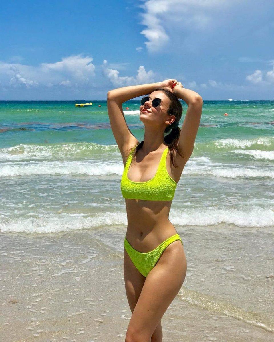 Green bikini beach