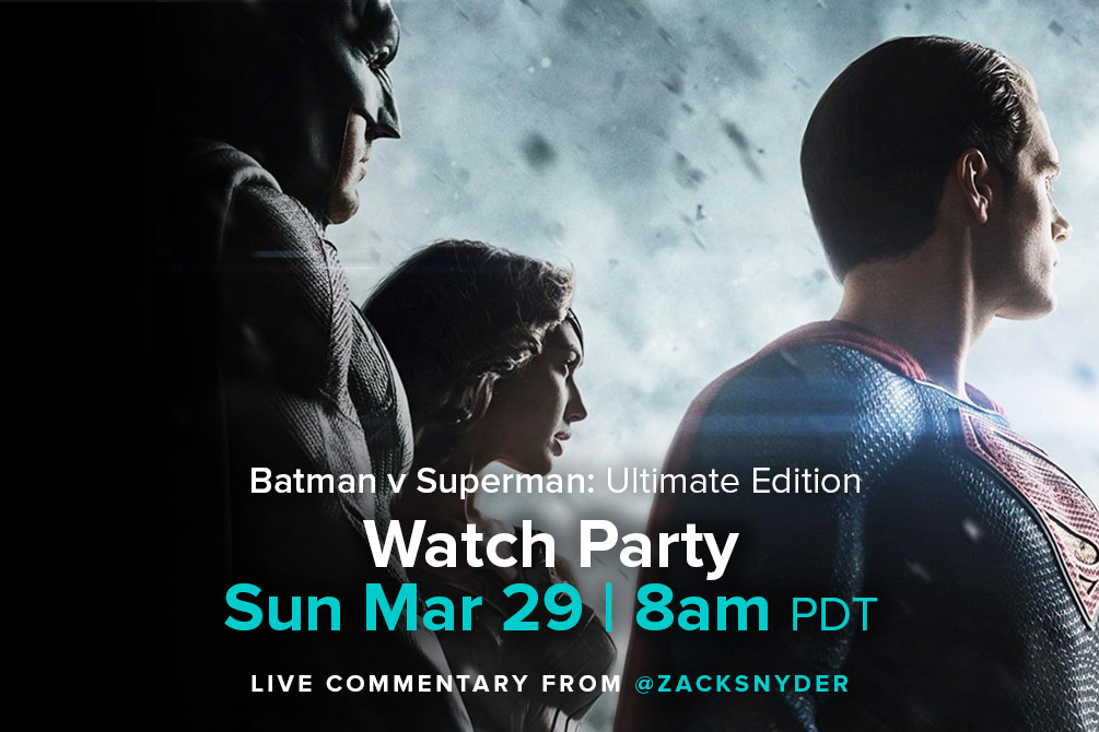 Join me tomorrow on VERO for a BvS live commentary. #BvS4Years