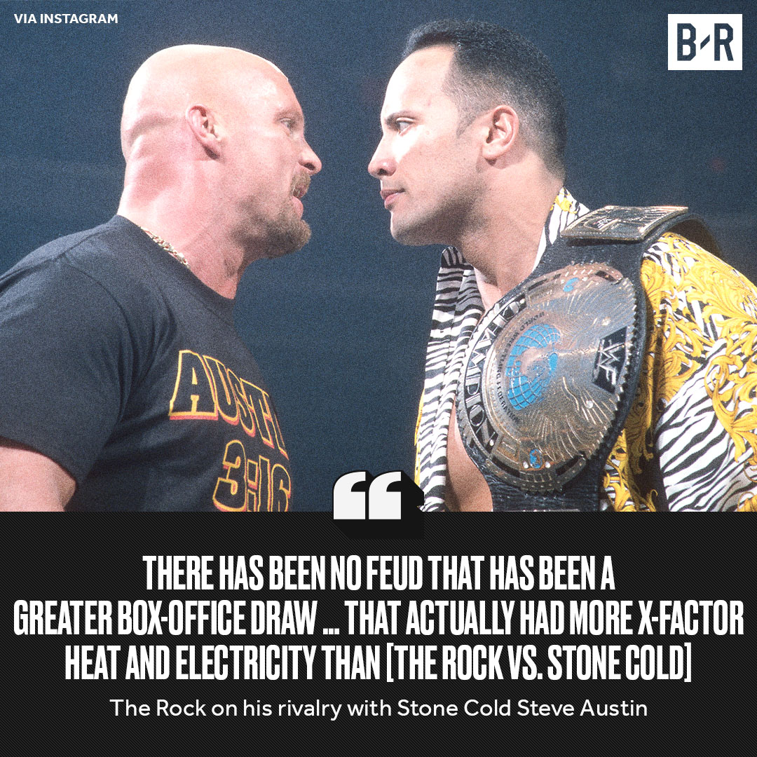 The Rock believes his feud with Stone Cold will go down as the greatest rivalry ever 🐐🐐