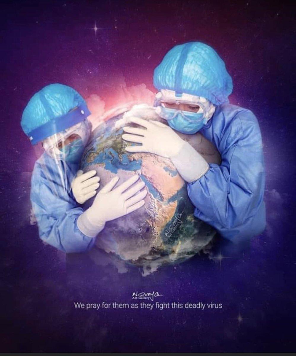 كل الحب والتقدير والاحترام لكل الاطار الطبي و شبه الطبي و لكل العاملات و العاملين في المجال الصحي في العالم كله.... انتم الأبطال الحقيقيون لهذا الزمن🙏🌹❤️
