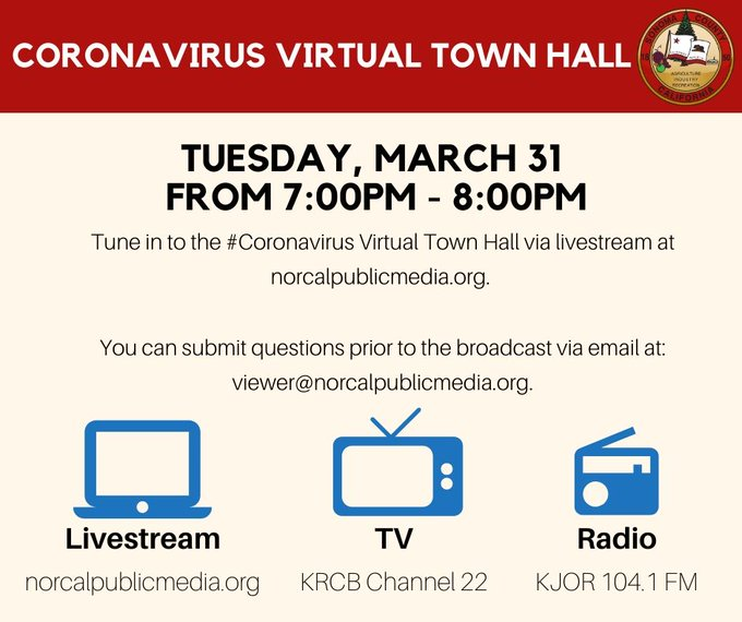 image with tv, computer and radio for march 31 town hall