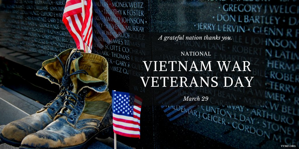 On #VietnamWarVeteransDay, we remember and honor our nation's Vietnam veterans for their sacrifice and service. We are forever grateful. #WelcomeHome