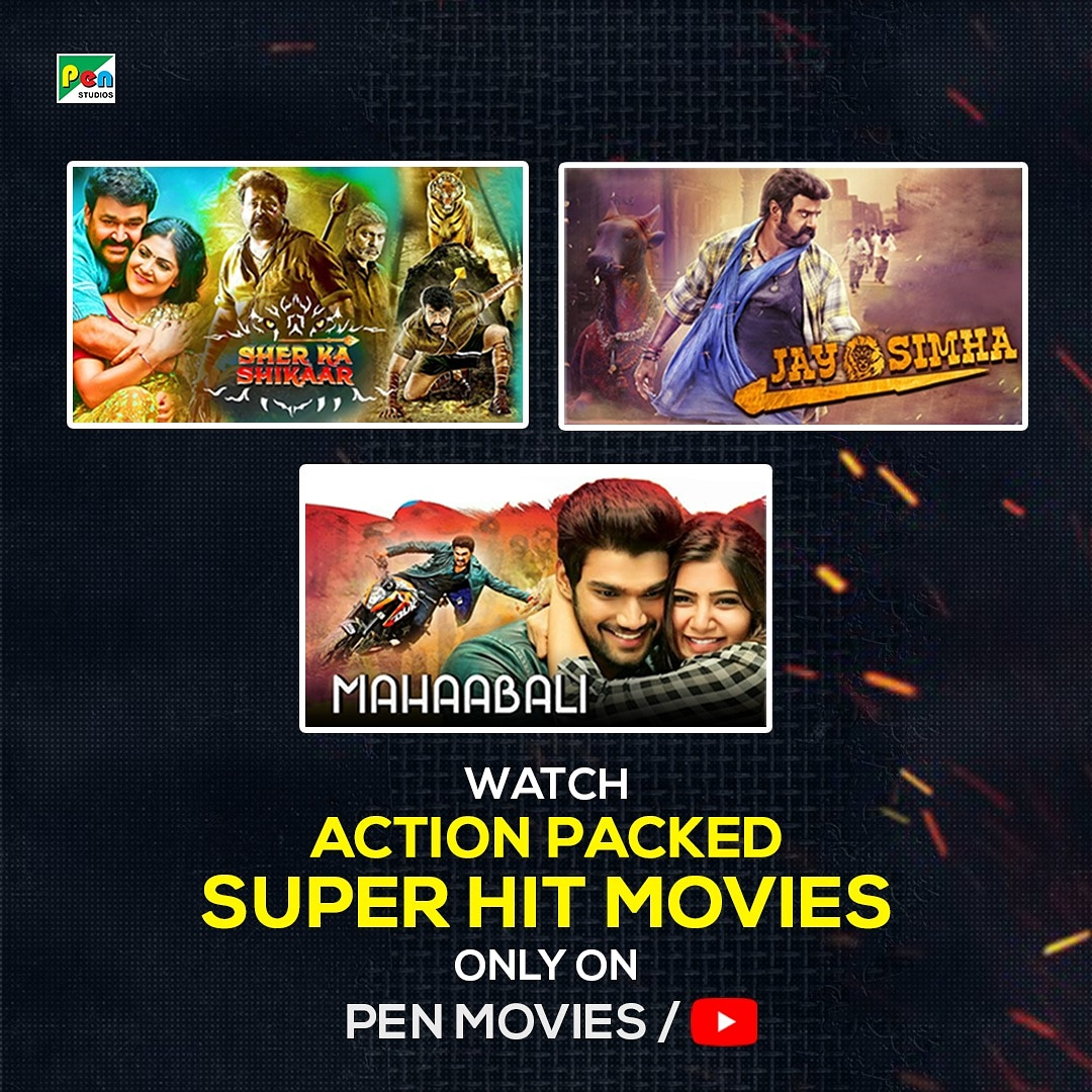 Action is needed. Watch action packed super hit movies only on penmovies/YouTube for free. . . #sherkashikar #jaysimha #mahaabali #BingeWatch #staySafe #stayhome #21dayschallenge #CONVID19 #freemoviesonline #entertainment #action #drama #youtube