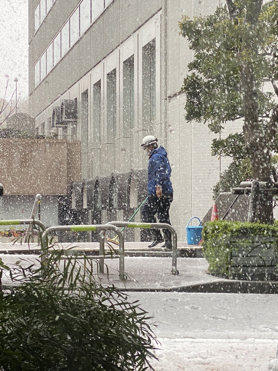 I'm not saying that the Japanese occasionally have pointless jobs but sweeping the snow from an empty pavement while its snowing... #TokyoLife pic.twitter.com/o8Oqn1IX4M
