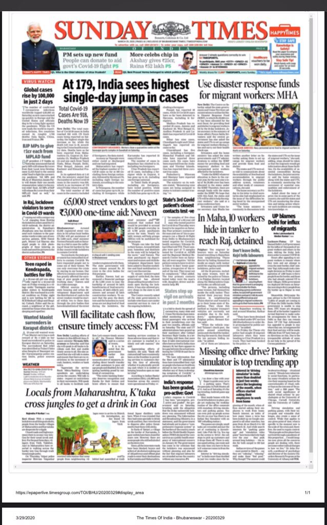 Bhubaneswar edition of Times of India today pic.twitter.com/59UJISWlt5