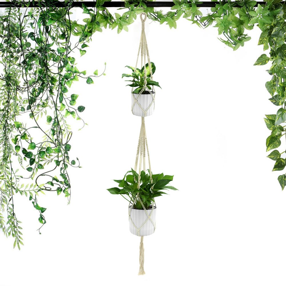 #model #cool Retro Plant Hanger with 4 Ropes