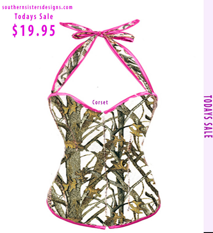 White camo Corsets SALE! https://www.southernsistersdesigns.com/corset-with-white-camouflage-and-pink-trim-hang-on-neck/…  #picoftheday #vidanocampo #rodeo #texas #farm  #farmlife    #boots #westernfashion #southerngirl #caipira #countryclothing #cowgirlup  #huntress #horses #cowgirlboots #hunting  #equestrianstyle #merica  #southern #singer  #stylepic.twitter.com/2mEqirw5Xy