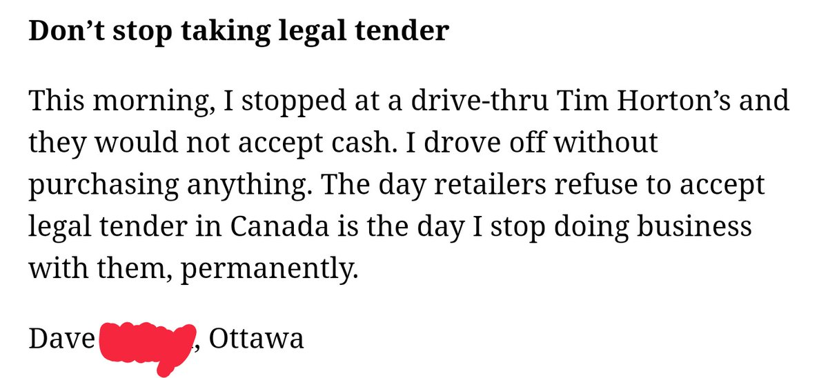 My dude #Ottawa Dave doesn't understand that there is a pandemic going on and Tim's employees don't need to be put at risk because he couldn't be arsed to make a coffee at home. pic.twitter.com/Pp7lXVSljk