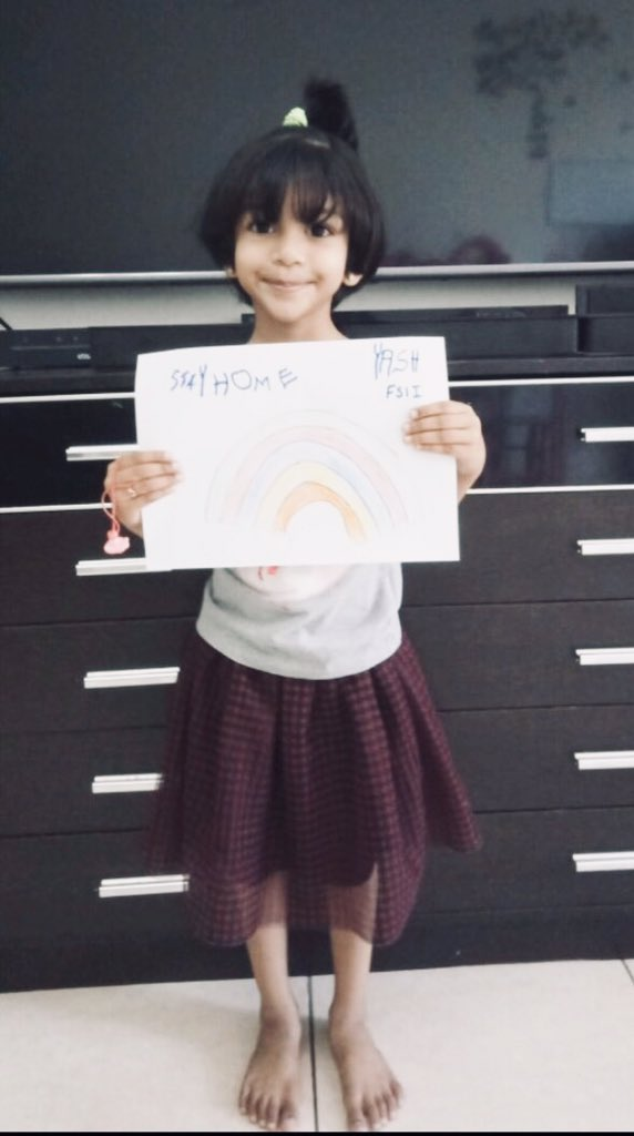 Many thanks to our lovely student Yash in FS1 for her awesome rainbow drawing 👍🏻❤️ #capitalschooldubai #schoolscompared #khdadubai #drawing #fun #homelearnin