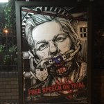 Beautiful art to focus on the illegal jailing of Wikileaks hero #JulianAssange is evolving during lockdown ➡️ street art ➡️punk designer Vivienne Westwood  ➡️one wo/man & a can  📷 it, DIY & post  #SaveAssangeCovid19  & yr#🚩 #BailAssangeUK #EvacuateAssangeOZ #DontKillAssangeUSA
