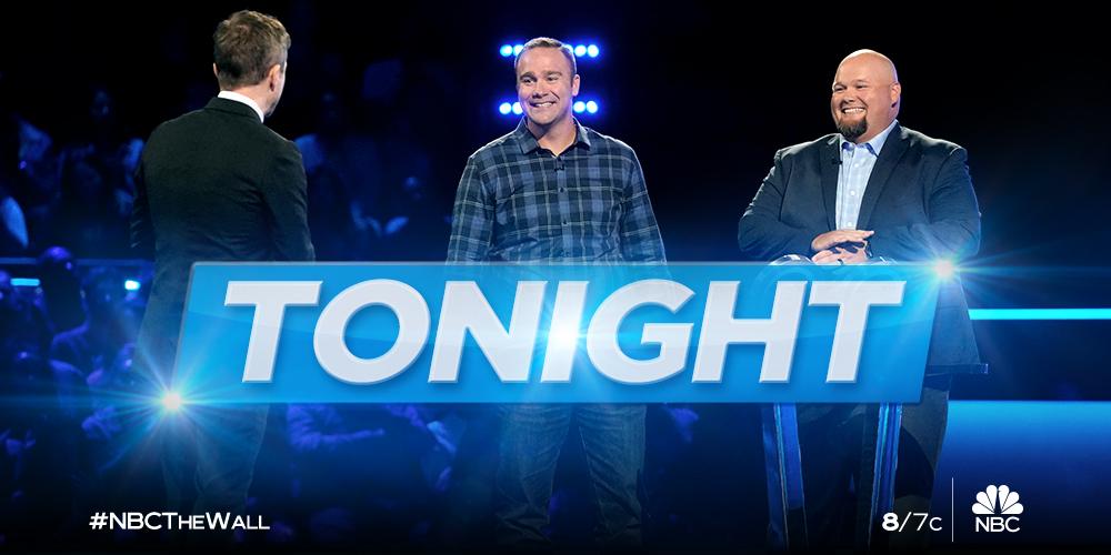 Catch Matt & Nick take on #NBCTheWall TONIGHT 8/7c on @NBC!