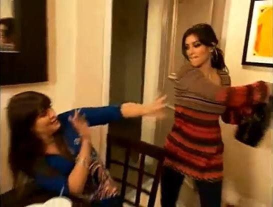 Kim went from hitting Khloe with her handbag, to going all MMA on Kourtney