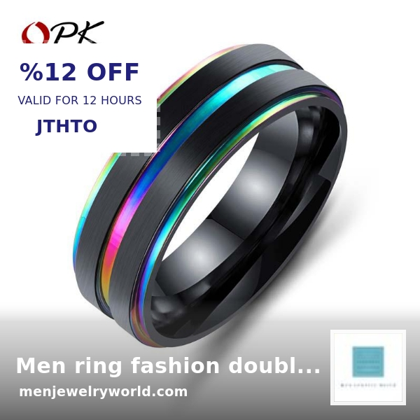 CAN YOU BELIEVE IT Now selling at $140.99  Men ring fashion double layer titanium steel by Weishangfang Store  Shop the range here https://shortlink.store/g3aOIuLX4p   pic.twitter.com/2TlpeBpfO9