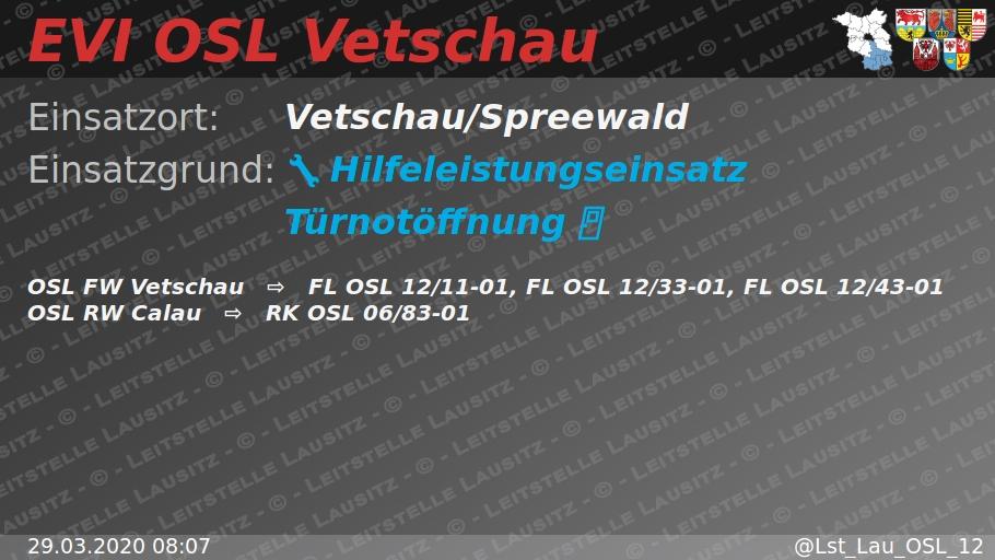 29.03.202008:07  H:Türnotöffnung Vetschau/Spreewald ⇨FWVetschau pic.twitter.com/kGKMV7LuK8