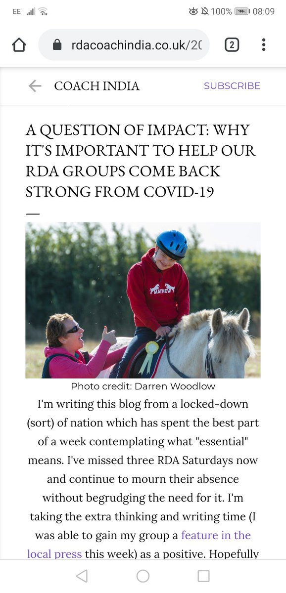 NEW this week on India's blogFind out more about why our #Covid19 #CharityAppeal is needed, not only by us but by all groups in the @RDAnational family.https://www.rdacoachindia.co.uk/2020/03/rda-impact-covid19.html?m=1 …  #EquestrianBlogger #EquineBlogShare #CoronaUpdate #StayAtHomeAndStaySafepic.twitter.com/mUH7hcl2X0
