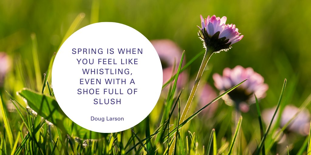 Are you enjoying the spring weather so far?
