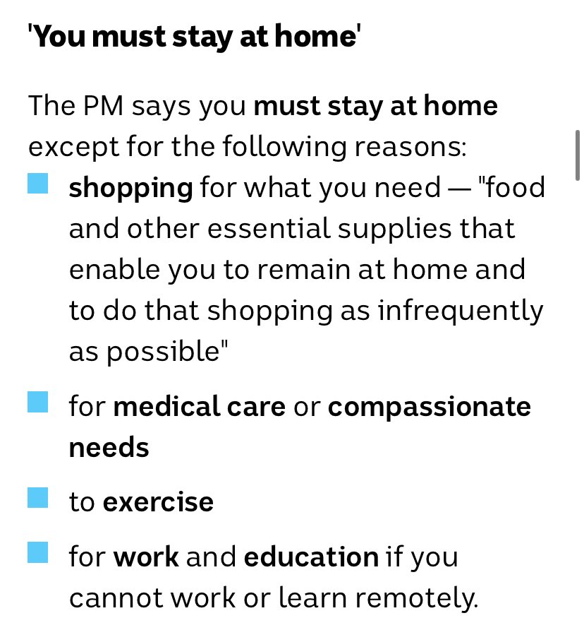Only 4 reasons to leave the house #COVID19Aus