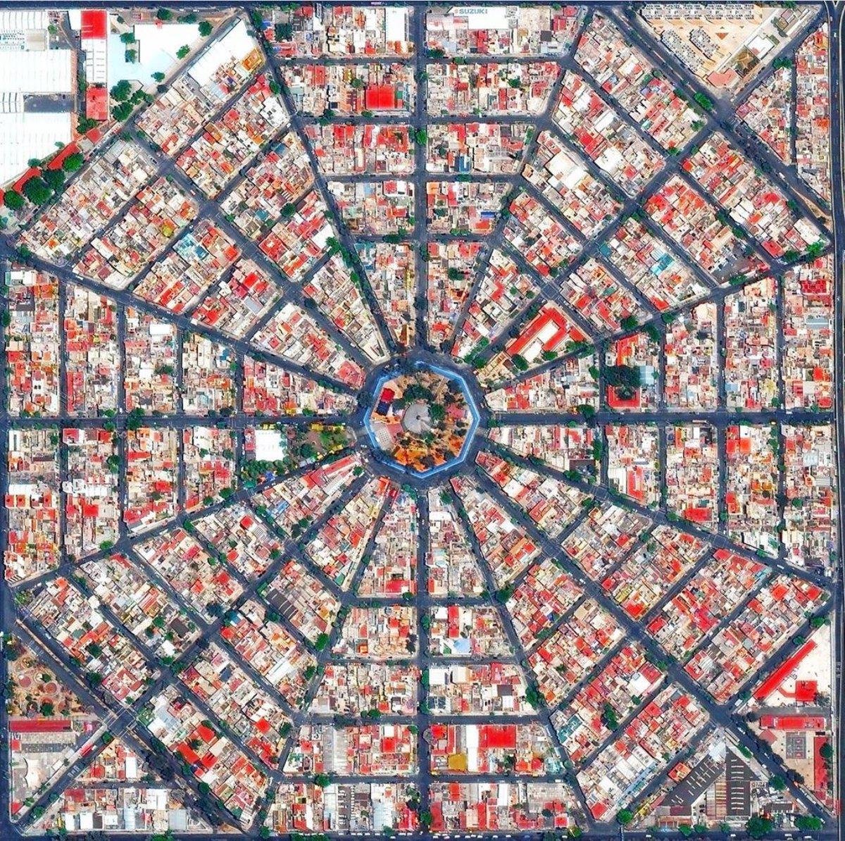 Planification urbaine: le quartier Venustiano Carranza District de la ville de Mexico, Mexique, vu du ciel. pic.twitter.com/dSh008iByO