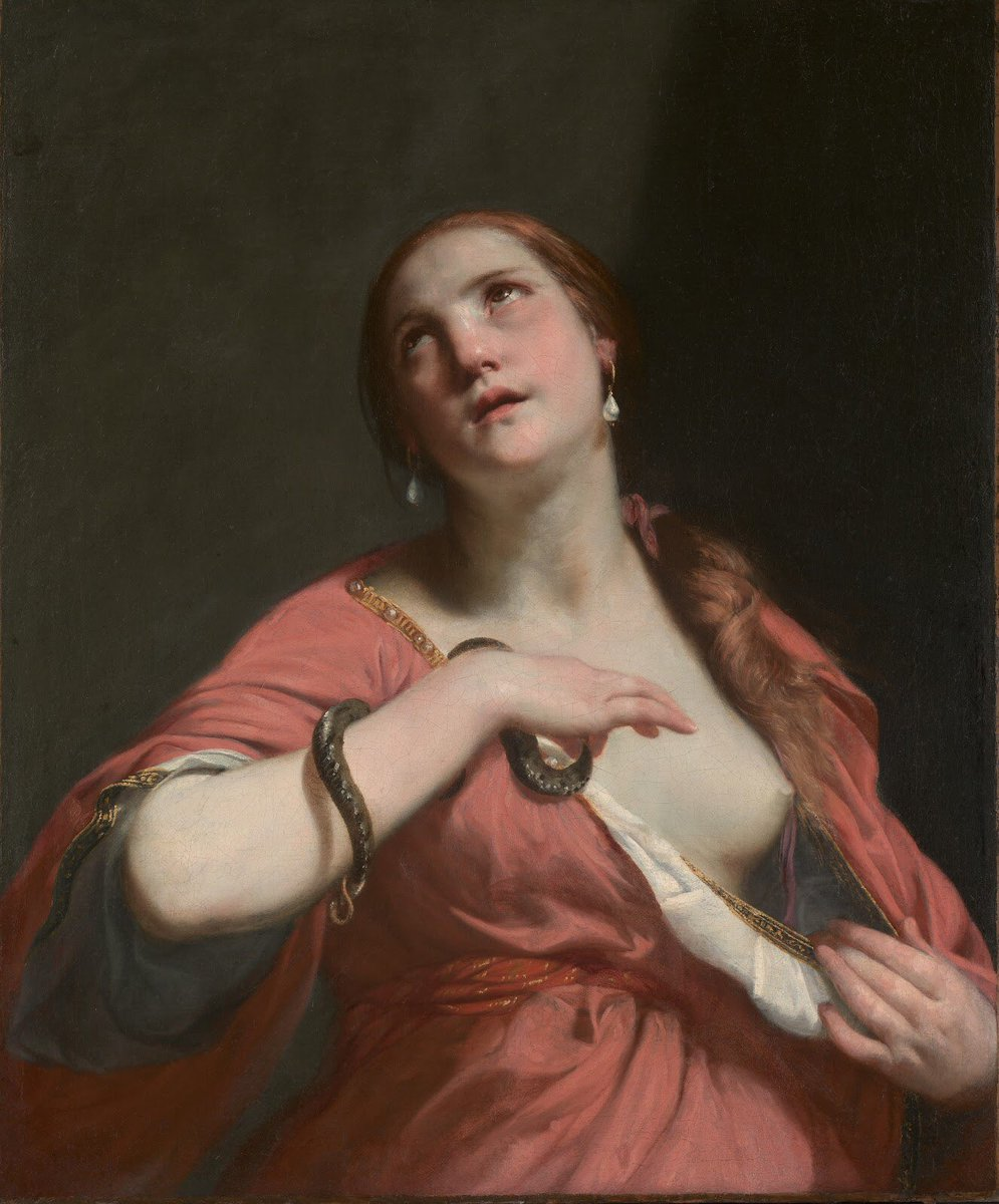 "Genevieve on Twitter: ""Guido Cagnacci (1601-1663), The Death of Cleopatra,  oil on canvas, ca. 1645-55… """