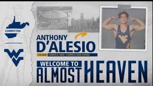 Congratulations Anthony D'Alesio on your commitment to wrestle for Coach Tim Flynn and West Virginia University! We are happy that you've found the right home for you and look forward to seeing you compete in the future! <br>http://pic.twitter.com/y0dzENSBl8