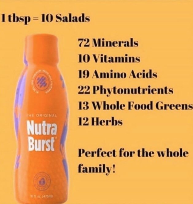 I'm so thankful for this product right here. Me and my son take this every morning. #NutraBurst #ImmuneBoost #SaladLover pic.twitter.com/y65Z9ZiUYK