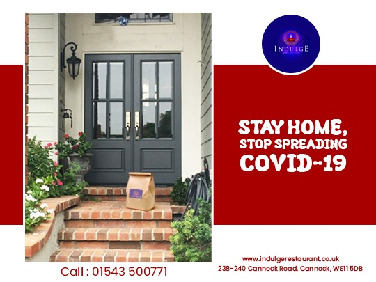 As per WHO guidelines, staying at home is the safest option to stop spreading COVID-19. That's why we are providing contactless collection and delivery services for our honourable customers.  Facebook: https://facebook.com/indulge.cannock  #indulge #cannock #indianfood #indianrestaurantpic.twitter.com/SGRQb0zadC