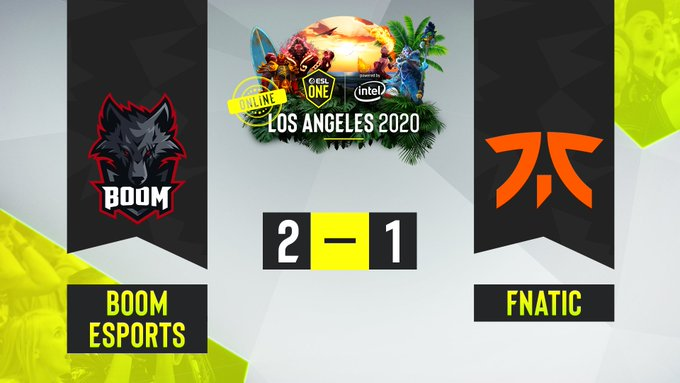 BOOM Esports vs Fnatic ESL one Los Angeles 2020