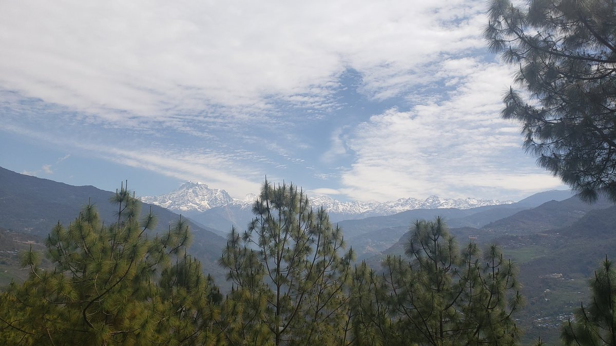 Our home quarantine view, how's your ? #Nepal #Mountains #2019nCoV #ruggedtrailsnepal #hikewithusinnepal #yoga #travel #photography #Himalayas #nepalviaje #bestintravel