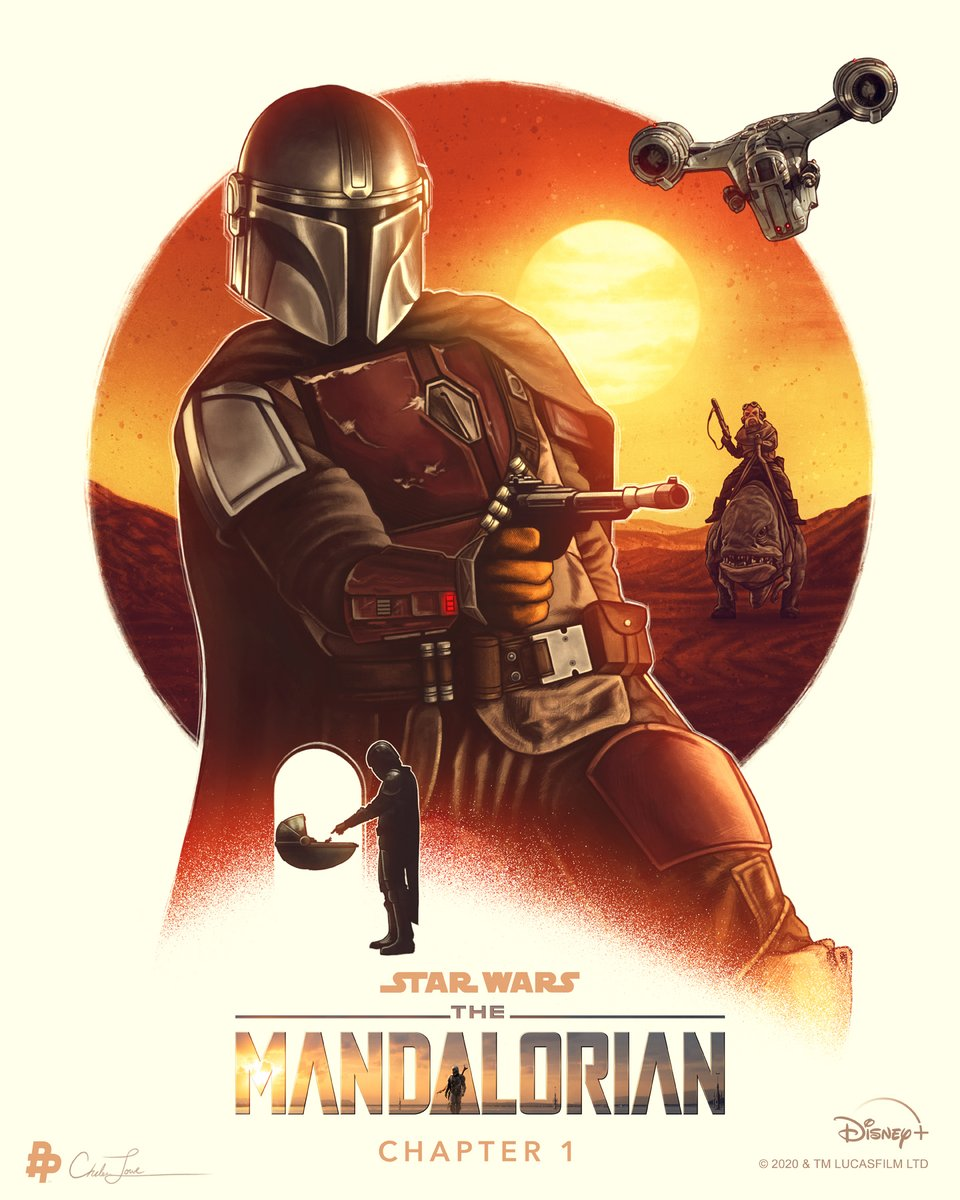 'One job. Direct commission.' #TheMandalorian is now streaming on #DisneyPlus. Art by @CMLoweART