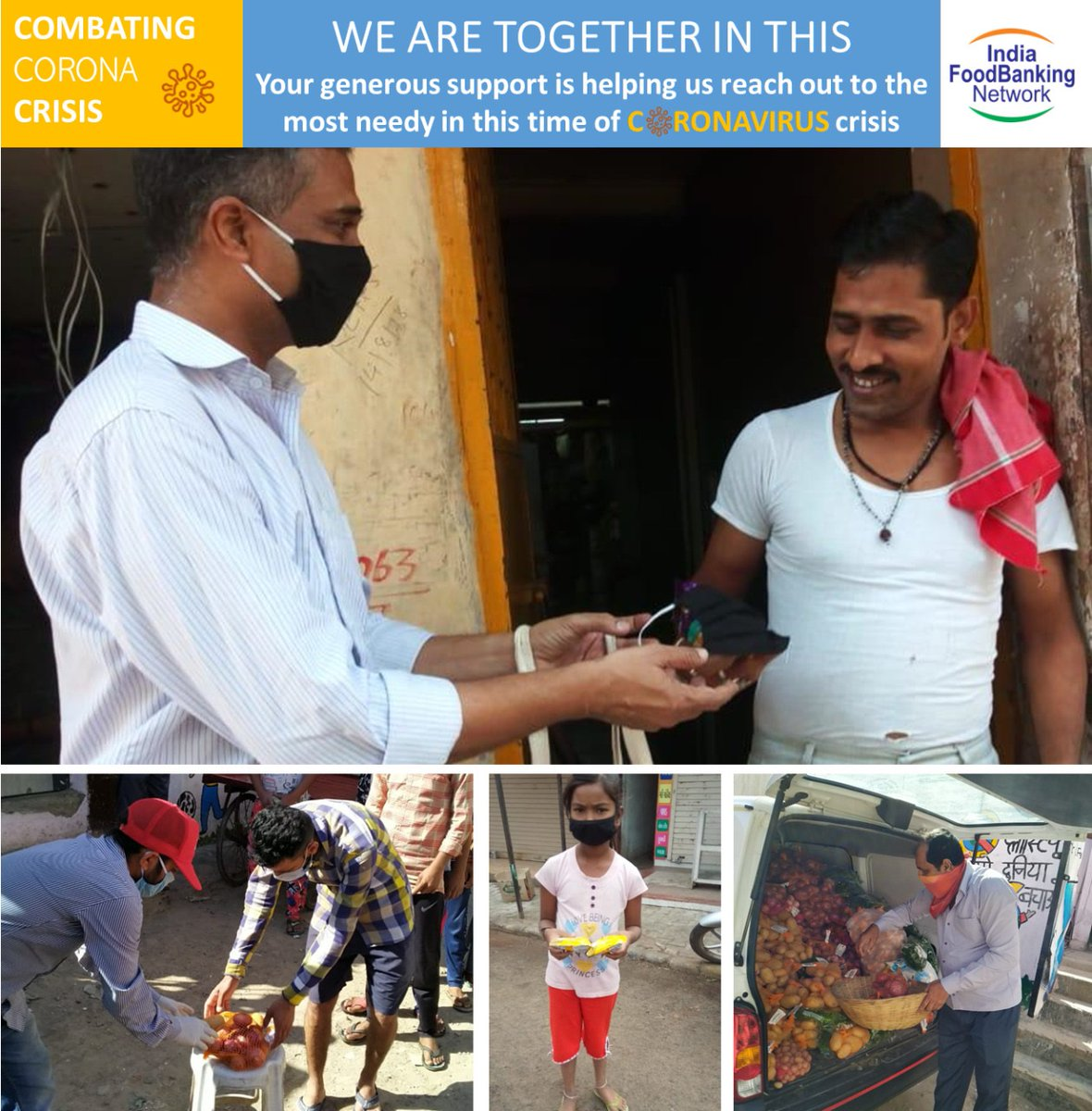 #COVID2019india is the biggest challenge of our times.  India Food Banking Network is helping the most vulnerable during this crisis. You can donate to enable us to provide rations and packaged food through our 14 foodbanks.  Visit our website http://www.indiafoodbanking.orgpic.twitter.com/9WslBBZgba
