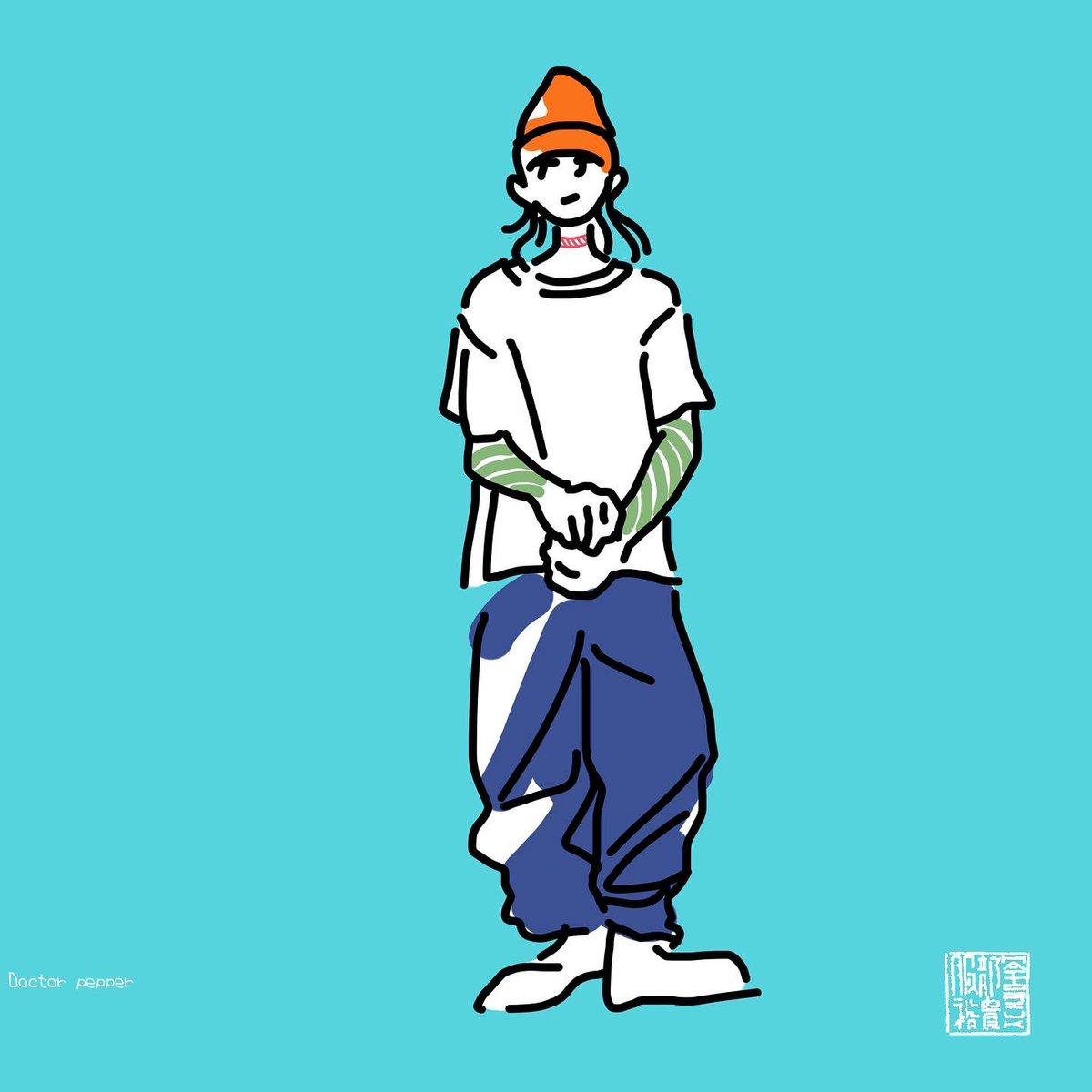 U K イカす少年 Drawing ドローイング Illust イラスト Illustration イラストレーション Illustrator イラストレーター Colorful カラフル Fashionable おしゃれ おしゃれさんと繋がりたい おしゃれ好き オシャレ男子 おしゃれ男子