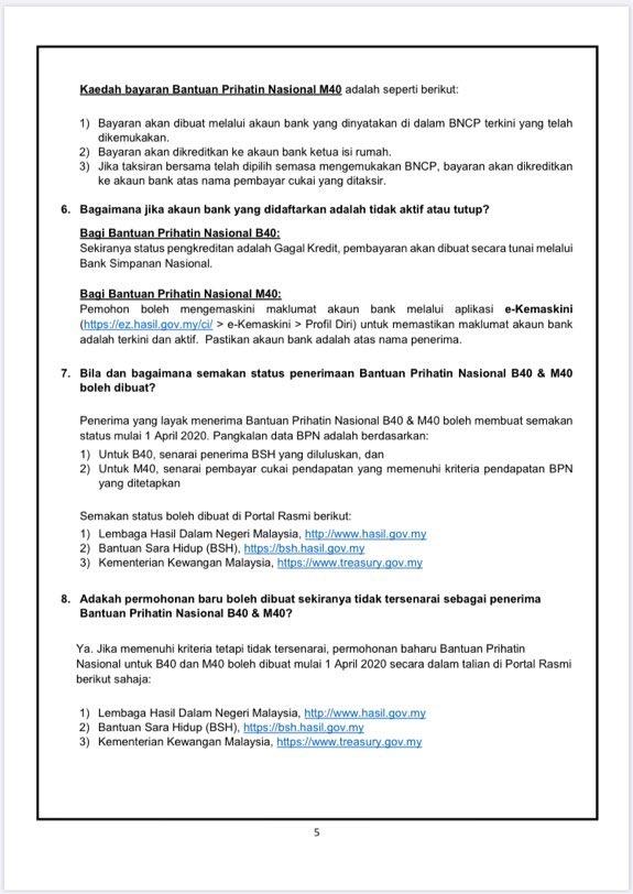 Thread By Twitervirall Permohonan Untuk Bantuan Prihatin Nasional Bpn Penerima Bsh Dan Yang Berdaftar Dengan Lhdn Bantuan Akan Terus Automatik Masuk Ke Akaun And