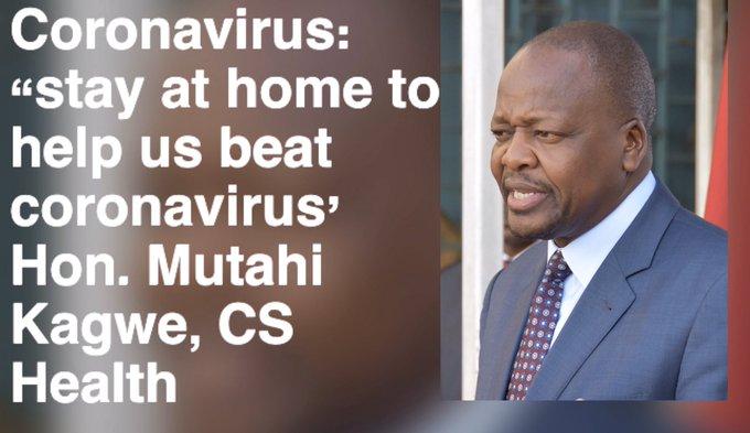 CS Mutahi Kagwe's rallying call to all Kenyans.