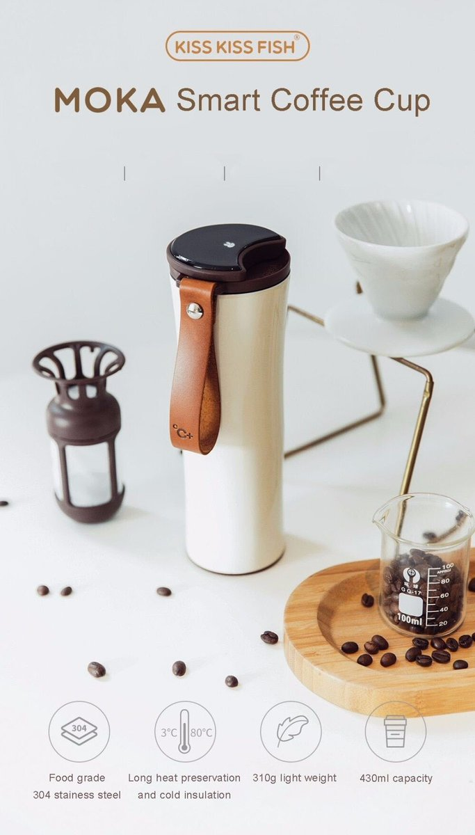 #Online_Shopping Stainless Steel Xiaomi KissKissFish MOKA Smart Coffee Cup - 430ml with OLED Touch Screen https://smartelectrox.com/product/stainless-steel-xiaomi-kisskissfish-moka-smart-coffee-cup-430ml-with-oled-touch-screen/… 52.49 #430ml #CoffeeCup #Display #KissKissFish #MOKA #Mug #OLED #Portable #Smart #SmartCup #StainlessSteel #Temperature #TouchScreen #Travel #Xiaomipic.twitter.com/bU6Gi4VJ4D