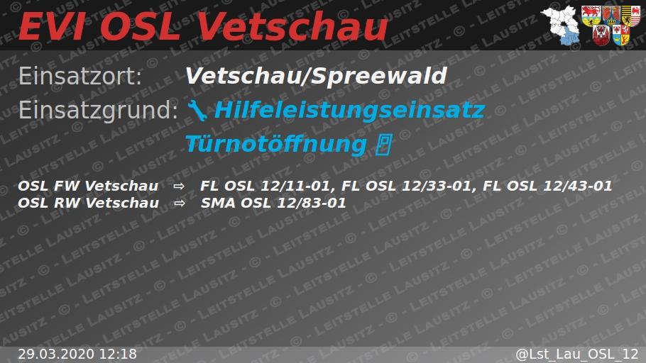 29.03.202012:18  H:Türnotöffnung Vetschau/Spreewald ⇨FWVetschau pic.twitter.com/gan33wt4o0
