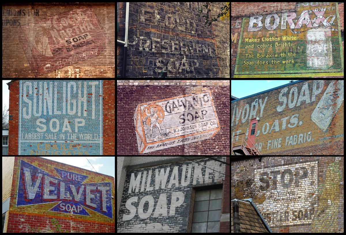 #FontSunday Soapy themed Ghost Signs.  @DesignMuseum #Design #Type #GraphicDesign #Soap #GhostSigns #Historypic.twitter.com/297KoARSBT