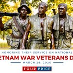 Image for the Tweet beginning: Vietnam War Veterans Day serves