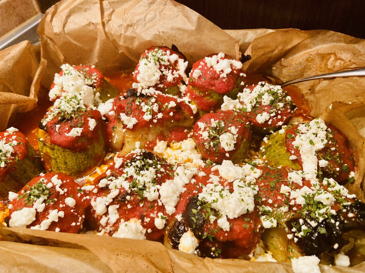 Greek Goes Keto On Twitter This Is Veal And Lamb Mince Gemista Meat Stuffed Zucchini Peppers Topped With Feta The Sauce Has Just A Bit Tomato The Rest Is Yolks And Smoked