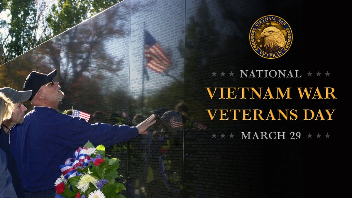More than 8.7 million men and women served during the Vietnam War. Today we thank the 6.2 million living Veterans for their service and pause to reflect those who have passed or did not return, including the more than 58,000 names etched into the Vietnam Veterans Memorial Wall.