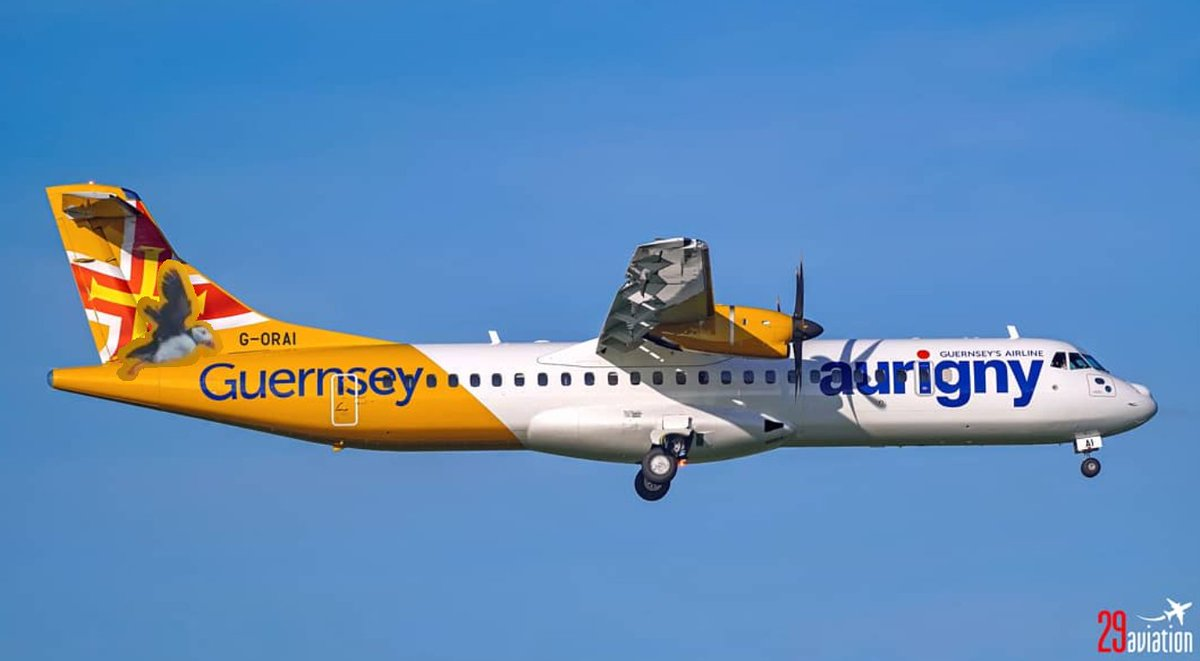 That's better - Puffin is back credit to @29Aviation for original pic.  @PilotTris   #Aurigny #ATR72 #Guernsey #Airport #GuernseyAirport #Aviation #AvGeek #Plane #Pilot #MegaPlane #AviationPhotography #PlaneSpotting #Avion #Flight #Travel #Airline #Aircraft #Airplane #TurboProppic.twitter.com/ZNv3uKxjpD