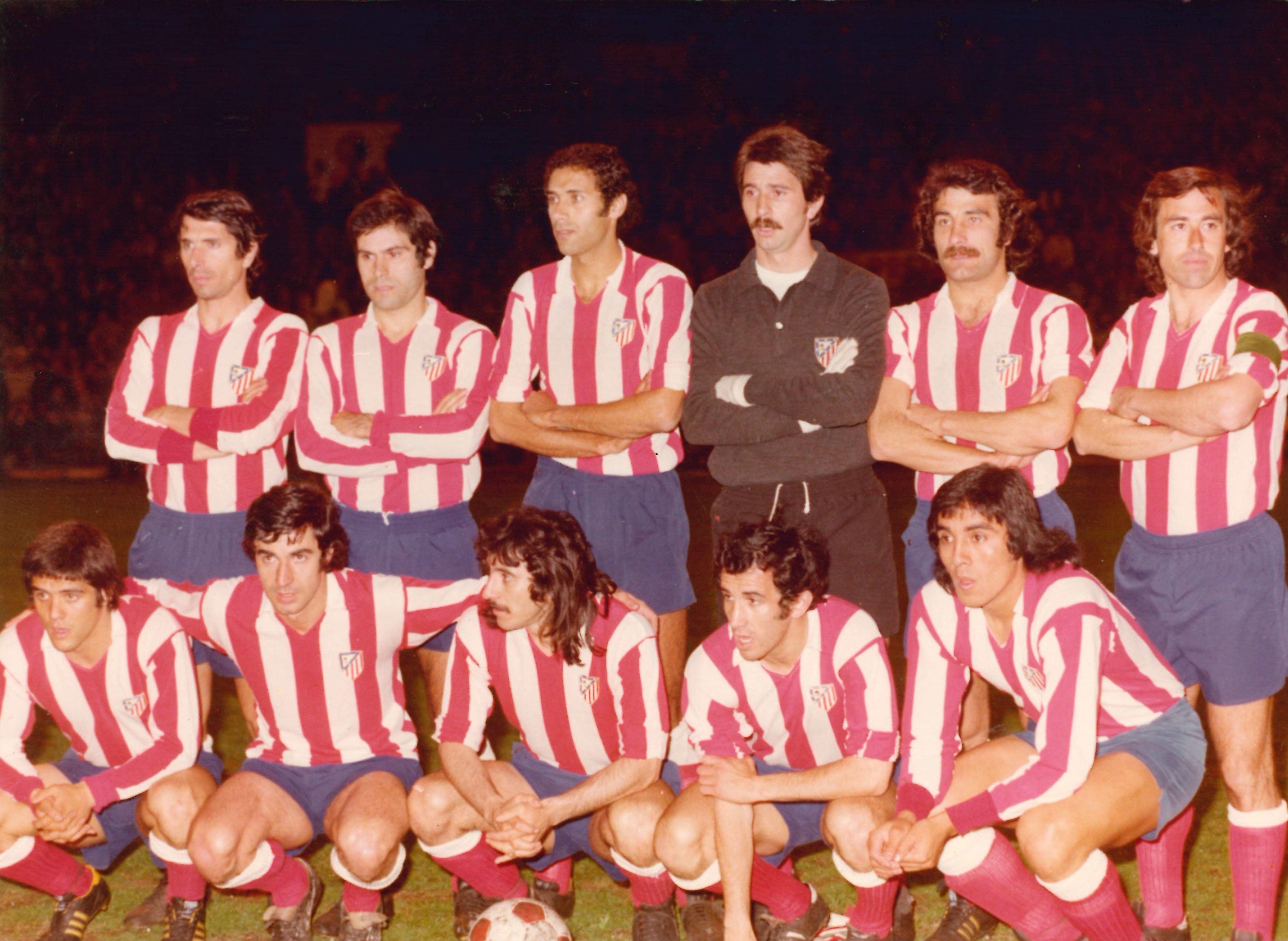 Once Atlético de Madrid con Capón. Fuente: Twitter Atlético Madrid