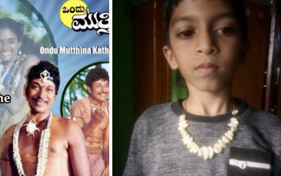 My son influenced by #Annavaru :) @PuneethRajkumar #COVID2019india #BeatCOVID19