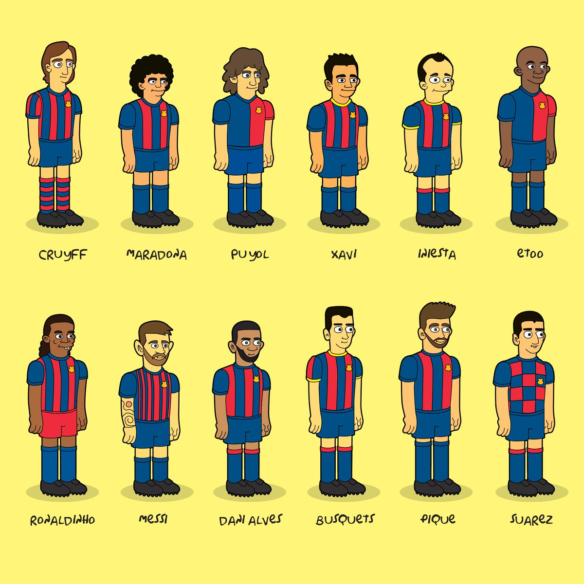 Drawing some #Barcelona legends  pic.twitter.com/4RnrI6sEvN