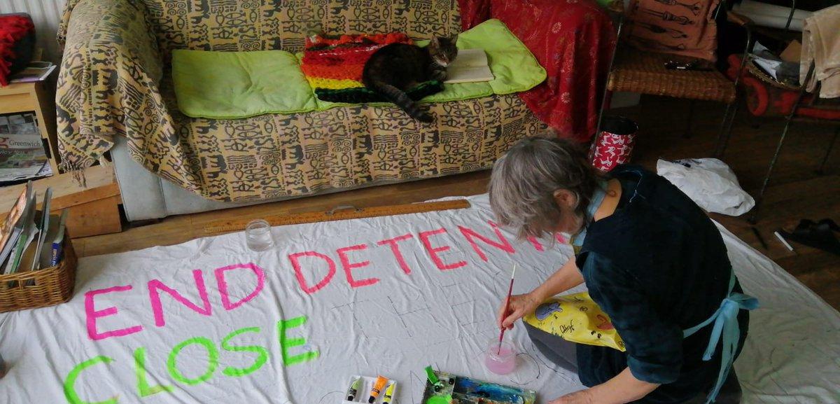 Banners banners banners, dog #NoOneLeftBehind #demandsfromapandemic