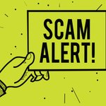 Image for the Tweet beginning: #Scammers can strike from anywhere,