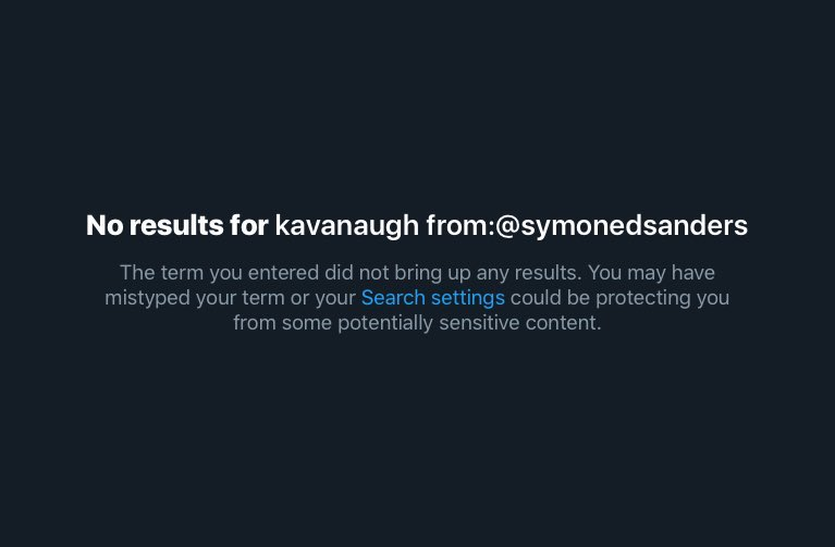 Since Joe Biden has been credibly accused of sexual assault, his campaign advisor, Symone Sanders, just completely scrubbed her timeline of any mention of her ardent support of Christine Blasey Ford.  Appalling.  #MeToo #IBelieveTara #TaraReade #JusticeForTara #IBelieveTaraReade<br>http://pic.twitter.com/dcpiMoH2rT