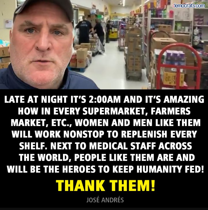 Thank these people too, they're keeping this country fed!❤